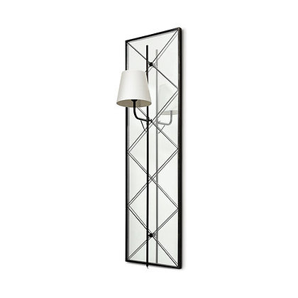 Krissta Black Metal and Mirror Wall Sconce