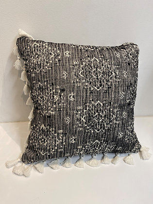 Knit with Fringe Throw Pillow