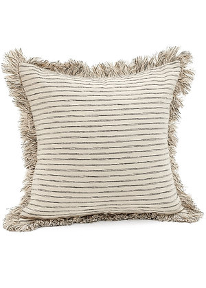 Black Striped Throw Pillow