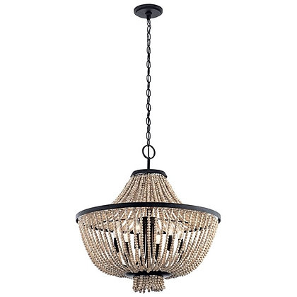 Brisbane 6 Light Chandelier Distressed Black