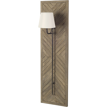 Vector 12.5x53 Brown Wooden Body Copper Metal Rectangular Wall Sconce