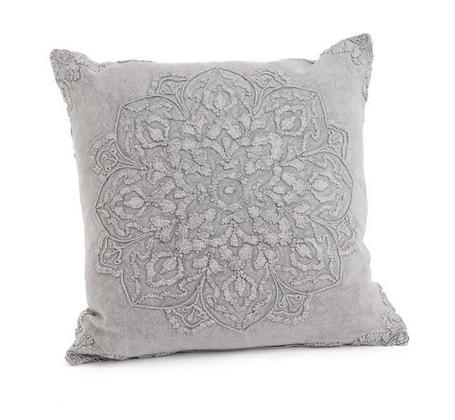 Beauvillon Gray Throw Pillow
