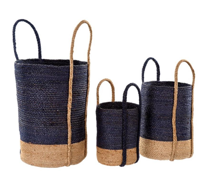Gibson Jute Baskets - Set of 3