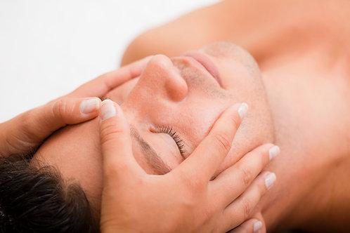 Masaje cráneo facial