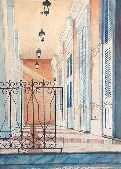 """""""Music Museum, Ponce-1992-Balcony""""  Original"""