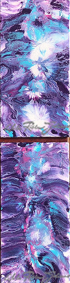 """Violets & Turquoises"" (Diptych) Original"