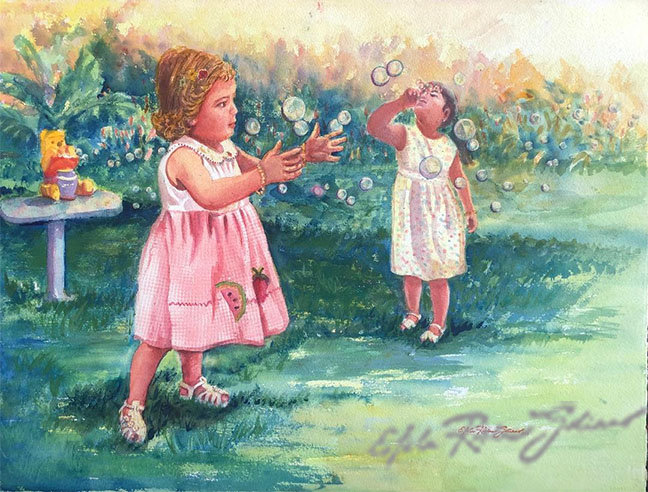 """""""Playing With Bubbles""""  Original"""