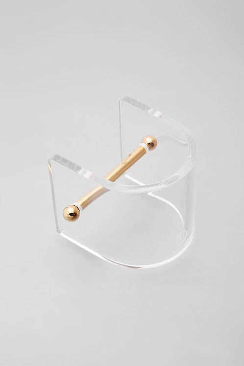 ALPHA CUFF - GOLD / CLEAR