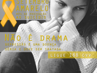 Adolescência e Suicídio - Setembro Amarelo, Mês de Combate ao Suicídio