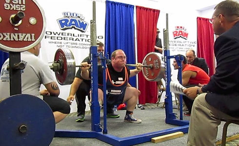 Jake crushing the squat