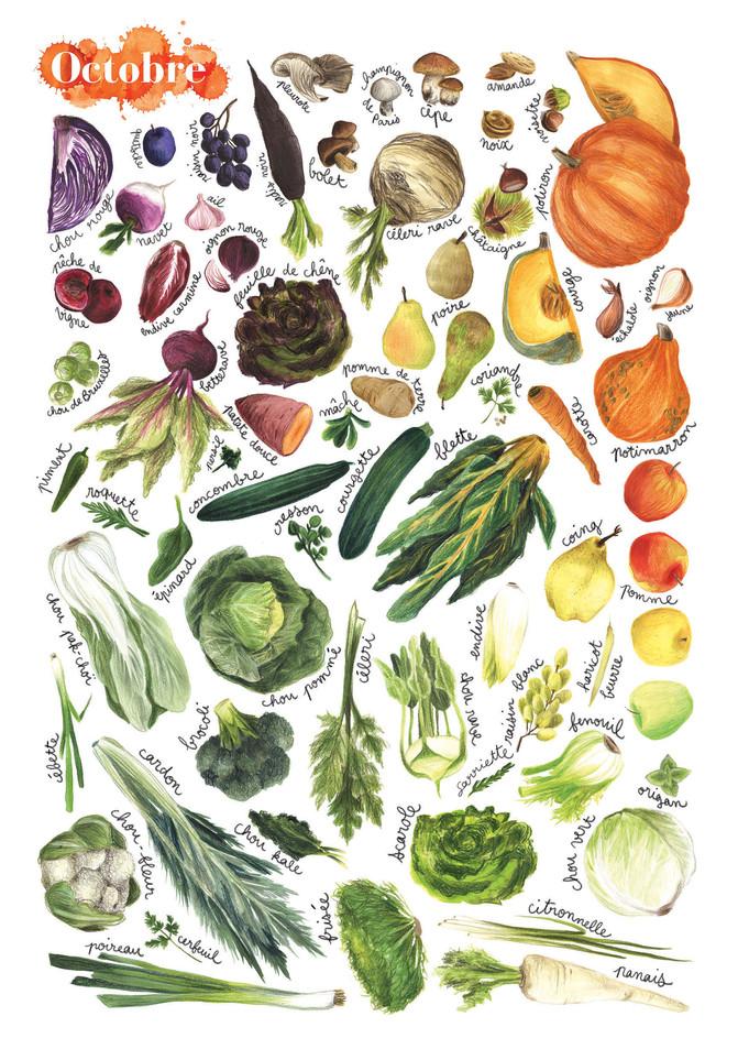Fruits et légumes de saison, Octobre