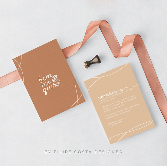 Cartões de Agradecimento Frente Verso | Couché 250g
