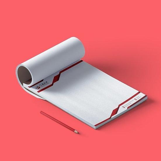 Bloco Personalizado | 21x30cm (A4) | Apergaminhado 90g