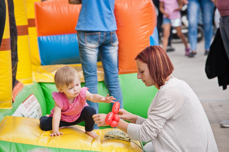 Hüpfburg, Sommerfest