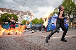 Feuershow, Liveact