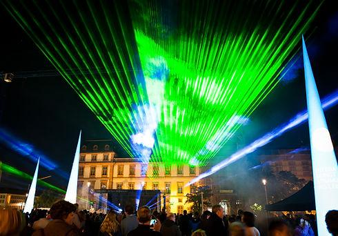Lasershow, Lichtshow, Publikum