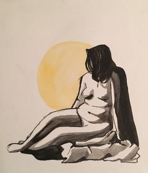 Female Figure Relaxing Study