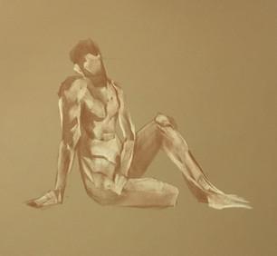 Male Figure Sitting Study