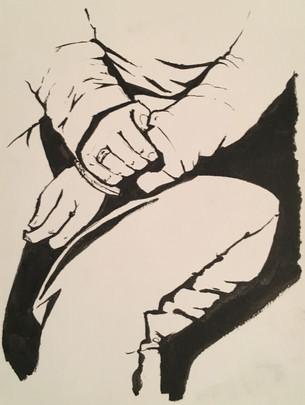 Man's Hands Study