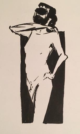 Male Figure Standing Study