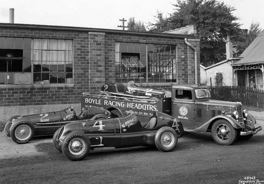 Boyle Racing HQ in 1940's