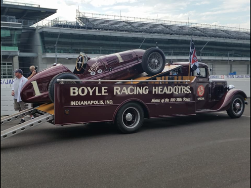 Restored Boyle Racing Racecar Hauler