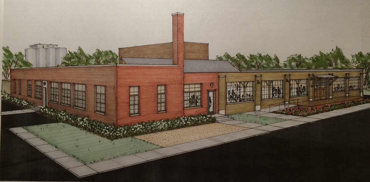 Rendering of future Boyle Racing HQ