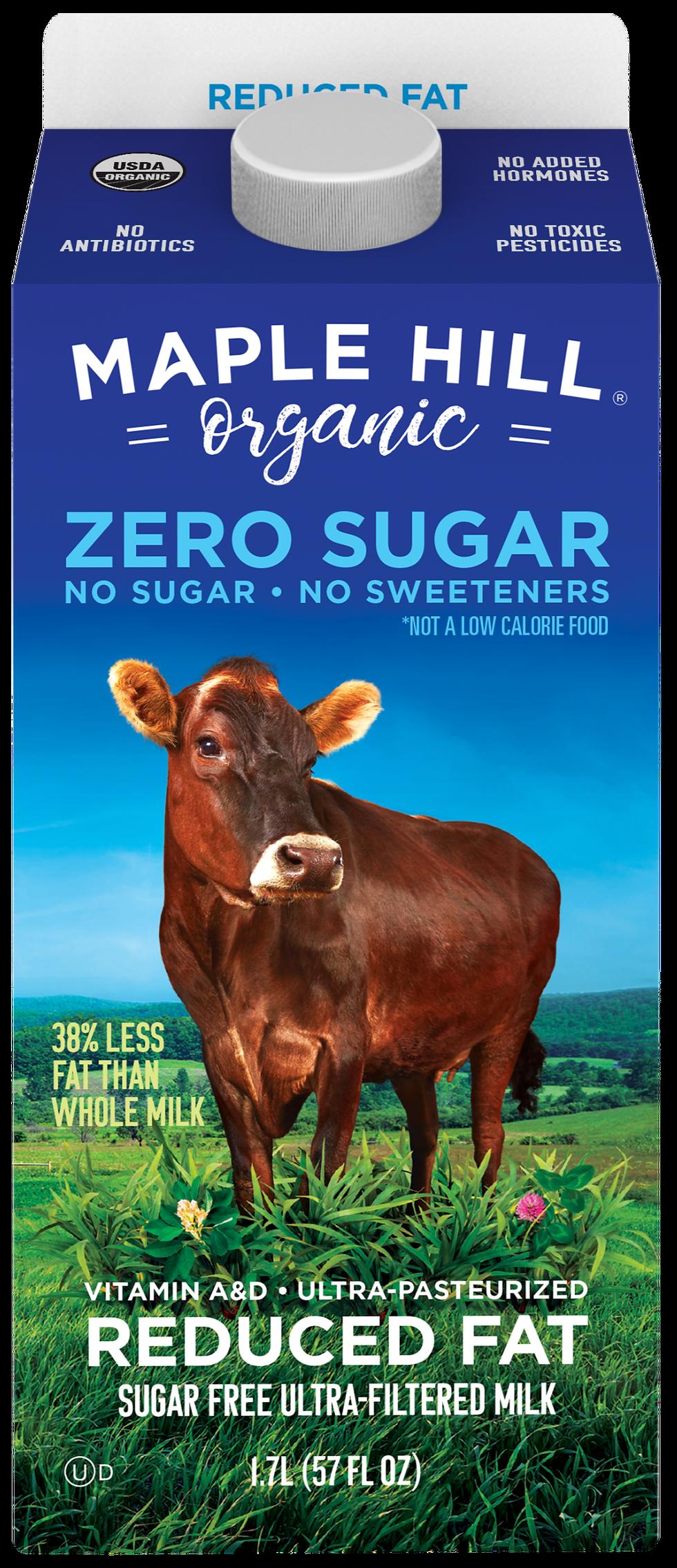 Maple Hill Organic Zero Sugar Reduced Fat Milk