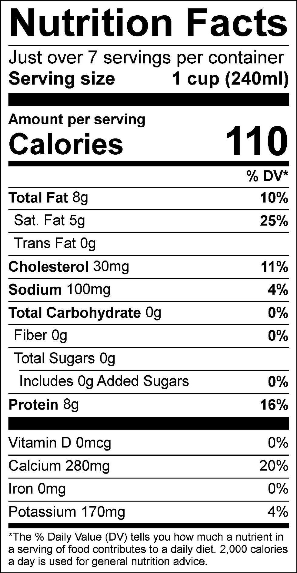 Zero Sugar Whole Milk