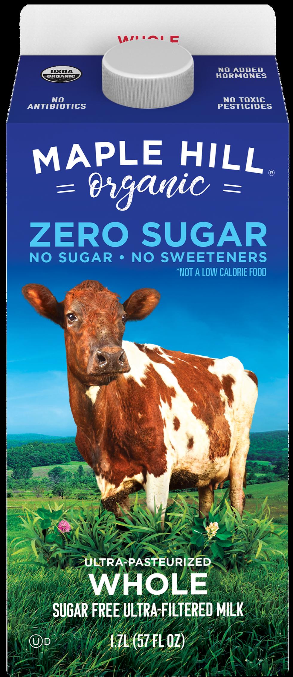 Maple Hill Organic Zero Sugar Whole Milk