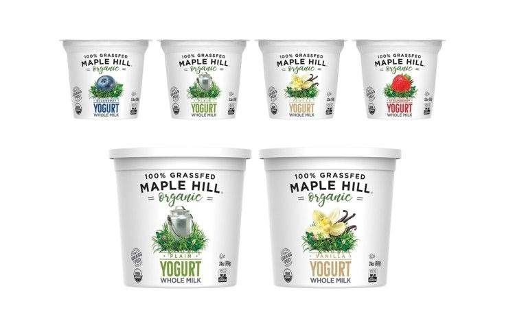 Maple Hill new blended yogurt line 'falls in the middle' of Greek and cream-on-top