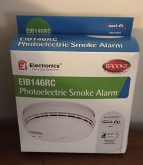 Brooks 240 Volt Surface Mounted Photoelectric Wired Interconnect Smoke Alarm Wit