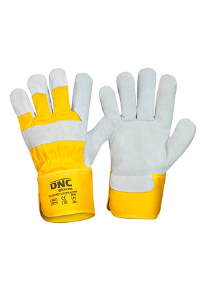 DNC Yellow Grey  Leather Glove