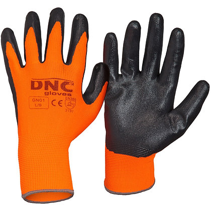 Nitrile Basic/Smooth Finish polyester gloves