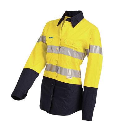 Hi-Vis 2-Tone Lightweight Gusset Cuff Drill Shirt