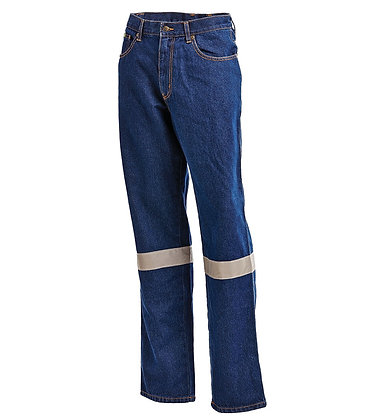 Blue Denim Jeans with Reflective Tape-1005TBJ