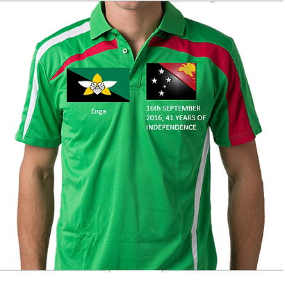 PNG-Enga Independence promotion polo shirt