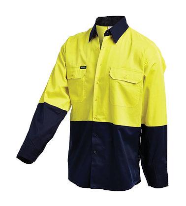 Hi-Vis 2 Tone Lightweight Drill Shirt-2007