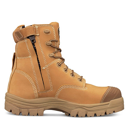 150mm Zip Side Lace Up Boot, Water Resistant Nubuck