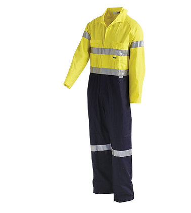2-Tone Regular Weight Coverall With Nylon Press