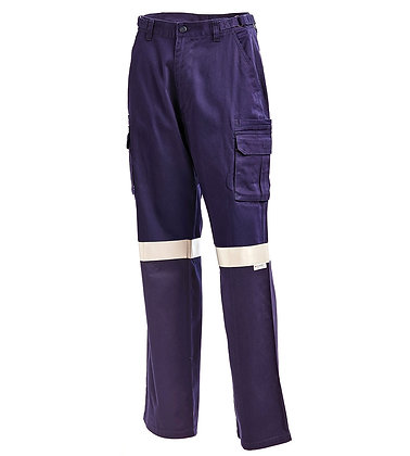 Cotton Drill Multi Pocket Cargo Pants With  3M™ Re