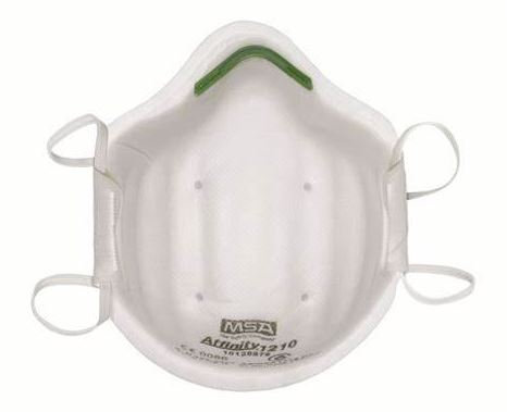 MSA AFFINITY 1210 Disposable Respirator Mask Suitable For P1 Particles & Dust Bo