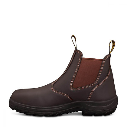 Elastic side full leather claret boot