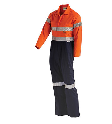 Hi-Vis 2-Tone Regular Weight Coverall With Nylon P