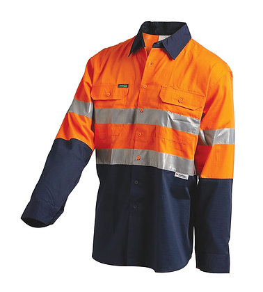 Hi-Vis 2-Tone Super Lightweight Ripstop Shirt With