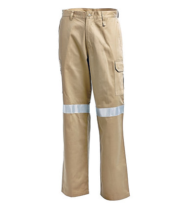 Lightweight Cotton Drill Multi Pocket Cargo Pants