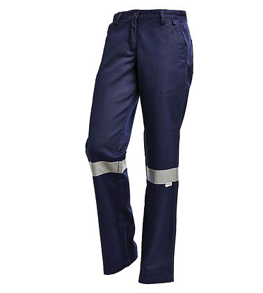 Ladies Cotton Drill Work Pants with 3MTM Ref