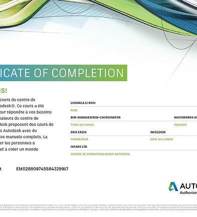 Certificat Autodesk BIM-manager_Liudmila