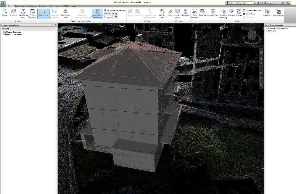Vérification du géoréférencement du nuage de points et du BIM modèle sur Navisworks