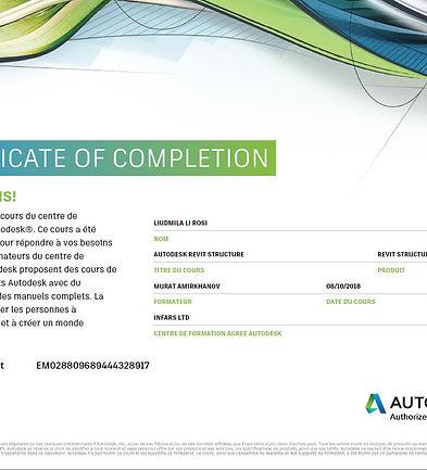 Certificat Autodesk Revit Structure_Liud